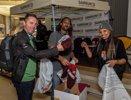 SAMWUMED AND HEARTFM NELSON MANDELA BEANIE CAMPAIGN