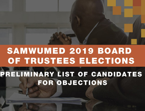2019 BOARD OF TRUSTEES ELECTIONS
